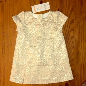 Gymboree 3-6 months girls gold dress